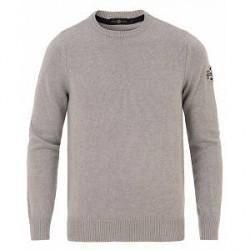 Henri Lloyd Branded Danesford Knitted Crew Neck Grey Marl