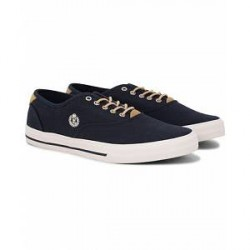 Henri Lloyd Brighton Lace Canvas Sneaker Navy