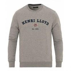 Henri Lloyd Kyme Branded Sweat Grey Melange