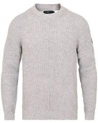 Henri Lloyd Narbeth Wool/Cotton Regular Crew Neck Knit Grey Marl