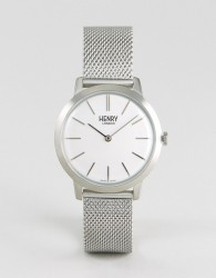 Henry London Mesh Watch In Silver 34mm - Silver