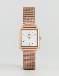 Henry London Square Mesh Watch In Rose Gold 26mm - Gold