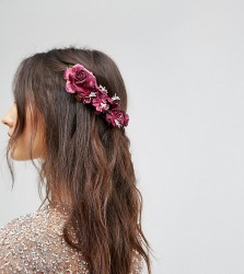 Her Curious Nature Blossom Hair Clip - Red