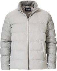 Herno Cashmere/Suede Jacket Silver Grey men 48 Grå