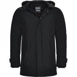 HERNO Laminar Hooded Down Jacket Navy