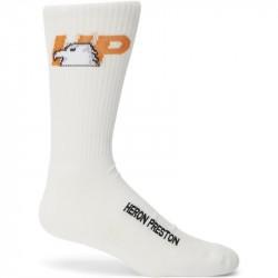 Heron Preston Logo Sock White