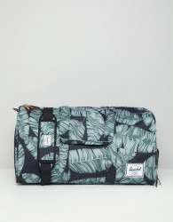 Herschel Supply Co Novel Duffle Bag 42.5L in Palm Print - Black