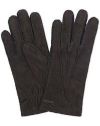Hestra Arthur Wool Lined Suede Glove Black men 7,5 Sort