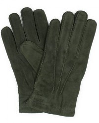 Hestra Arthur Wool Lined Suede Glove Dark Olive men 7,5 Grøn