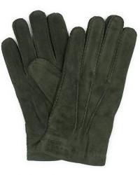 Hestra Arthur Wool Lined Suede Glove Dark Olive men 9,5 Grøn