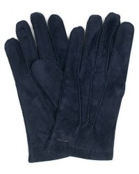 Hestra Arthur Wool Lined Suede Glove Navy men 9,5 Blå