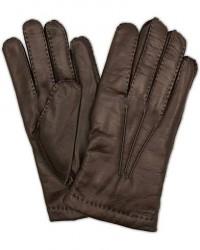 Hestra Edward Wool Liner Glove Espresso Brown