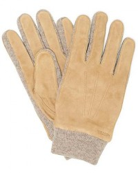 Hestra Geoffery Suede Wool Tricot Glove Camel men 10 Beige