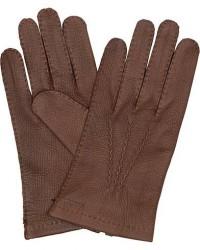 Hestra Henry Unlined Deerskin Glove Chocolate men 9 Brun