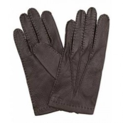 Hestra Henry Unlined Deerskin Glove Dark Brown