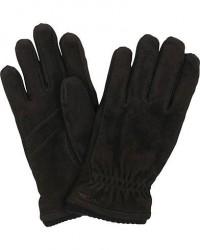 Hestra Nathan Goat Suede Prima Loft Glove Black