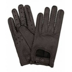 Hestra Peccary Driving Gloves Black