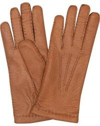 Hestra Peccary Handsewn Cashmere Glove Cognac men 7,5 Brun