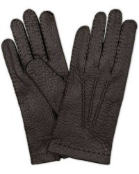 Hestra Peccary Handsewn Unlined Glove Black men 7 Sort