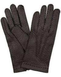 Hestra Peccary Handsewn Unlined Glove Black men 8 Sort