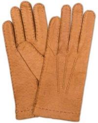 Hestra Peccary Handsewn Unlined Glove Cognac men 7 Brun