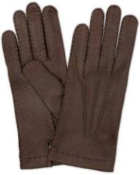 Hestra Peccary Handsewn Unlined Glove Espresso Brown men 7 Brun