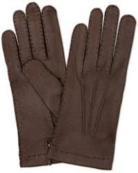 Hestra Peccary Handsewn Unlined Glove Espresso Brown men 8,5 Brun