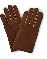 Hestra Philippe Chamoise Wool Lined Glove Brown men 7,5 Brun