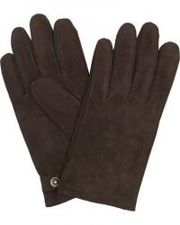 Hestra Robert Lamb Suede Wool Lined Buckle Glove Espresso