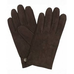 Hestra Robert Lamb Suede Wool Lined Buckle Glove Espresso