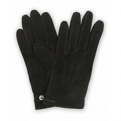 Hestra Robert Lambsuede Wool Lined Buckle Glove Black