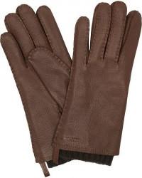 Hestra Tony Wool Lined Deerskin Glove Chocolate