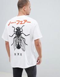 HNR LDN Fly Back Print T-Shirt - White