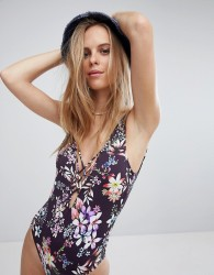 Hobie Floral Swimsuit - Black