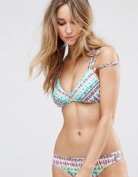 Hobie Multicolour Tie Dye Strappy Bikini Top - Multi