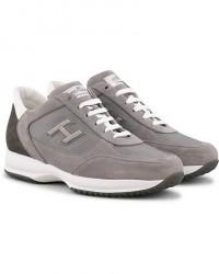 Hogan Interactive Suede Sneaker Light Grey Suede men UK9 - EU43