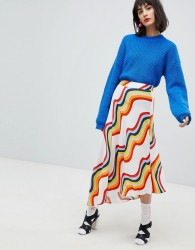 House Of Holland Asymmetric Rainbow Skirt - Multi
