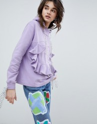 House Of Holland Bodice Panel Hoodie - Purple