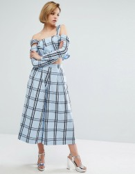 House Of Holland Check Culottes - Blue