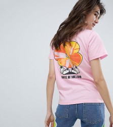 House Of Holland Exclusive Flower Slogan T-Shirt - Pink