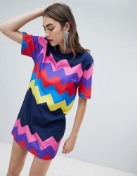 House of Holland Exclusive multicoloured zig zag dress - Multi