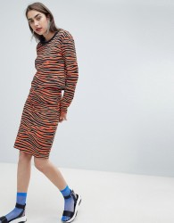 House of Holland Exclusive tiger print pencil skirt co-ord - Multi