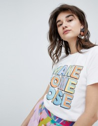 House Of Holland 'Make Some Noise' Slogan T-Shirt - White