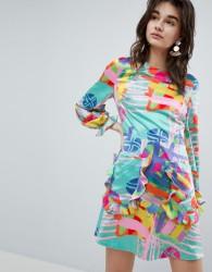 House Of Holland Nova Printed Mini Dress - Multi