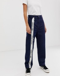 House of Holland Taped mom jeans - Blue