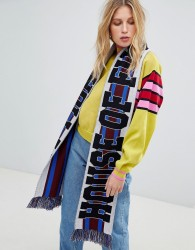House of Holland Unisex striped maxi football scarf - Multi