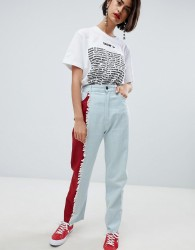 House of Holland vivid contrast mom jeans - Multi