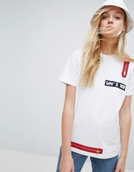 House of Holland X Lee T Shirt with Zip Detail - White