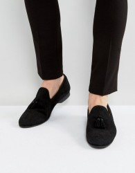 House Of Hounds Alfred Suede Loafers In Black - Black