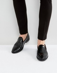 House Of Hounds Anton Patent Loafers In Black - Black